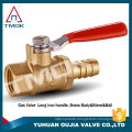 "TMOK BRASS BALL VALVE 1/4"" MALE X 1/4"" FEMALE CSA APPROVED MINI THREADED 600 WOG"